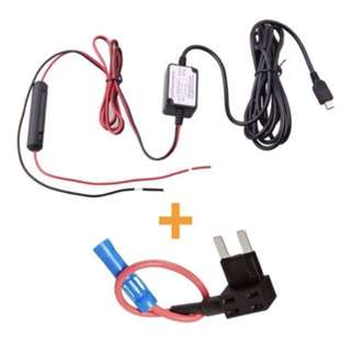 Spy Tec Dash Cam Hardwire Fuse Kit with Micro USB Direct Hardwire Car Charger Cable Kit for Dash Cameras (Micro USB and Fuse Kit)
