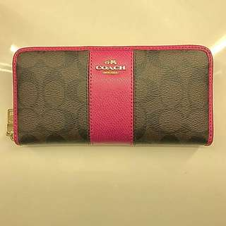 *Authentic* PINK / Brown Purse long wallet COACH
