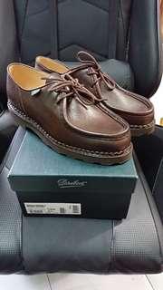 全新Paraboot Michel grain leather dark brown 41.5 (tricker's alden clarks)