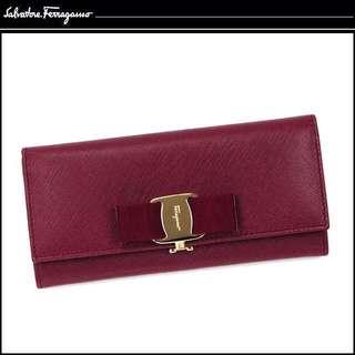 🆑CLEARANCE SALE! Last One !! 100% Authentic Salvatore Ferragamo MISS VARA BOW CLIP Salvatore Ferragamo wallet Ferragamo FERRAGAMO Ladies long wallet  ヴァラリボン 22B559 Prada Wallet Chanel Wallet