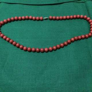 Authentic Red Jade Necklace