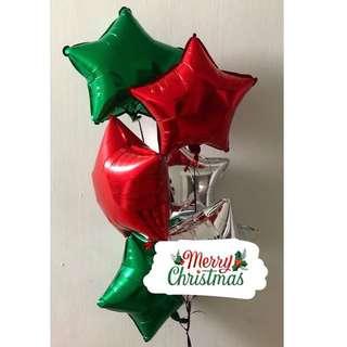 Christmas Helium Balloons