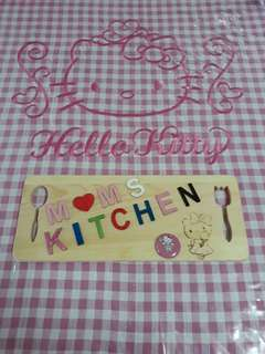 Kitchen wooden signage
