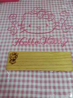 Hello Kitty wooden serving plate
