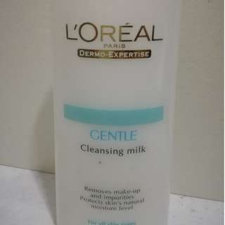 Loreal Gentle Cleaning Milk and Lip Eye Remover