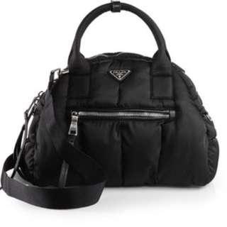 💝Fast Deal! Was $1590 💯Full Set! Authentic Prada Tessuto Bomber Bowler Bag