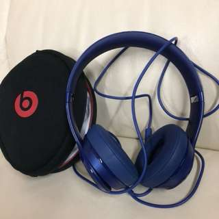 (NEW) Beats SOLO headphone (blue)