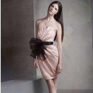 Vera Wang Pleated Cocktail Pleated Dress (US 10)