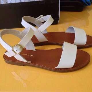Size 6.5: Windsor White Smith Bondi Sandals