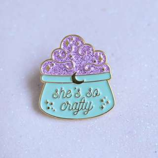 She's So Crafty Soft Enamel Pin