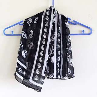 ASOS Skull and Floral Scarf - Black