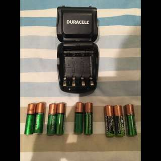 Duracell charger with batteries