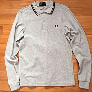 Fred Perry Long Sleeve Polo Shirt Size S
