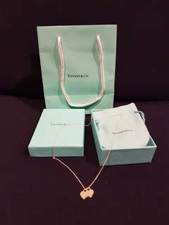 Tiffany and Co Mini Double Heart Necklace