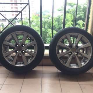 2 pcs Perodua Alza original rims with tire..