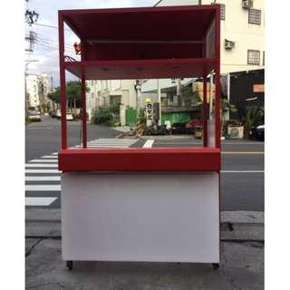 訂做飲料吧台車 生財器具 泡沫紅茶車 吧台車 紅茶冰 飲料台 吧台 早餐台 展示台 餐車 A1186