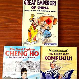 3 for $12: Asiapac: Great Emperors of China, The Great Explorer Cheng Ho, The Great Sage Confucius #Contiki2018