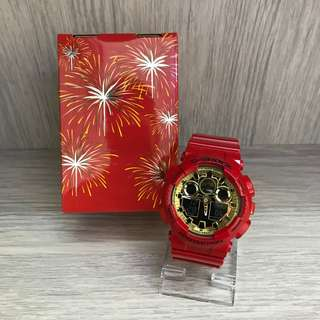 "現貨全新 Casio G shock 為慶祝新年推出限量紀念版 ""THE CHINESE NEW YEAR"" GA-100VLA"