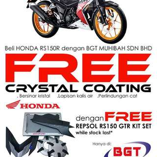 Honda RS150-R double free gifts