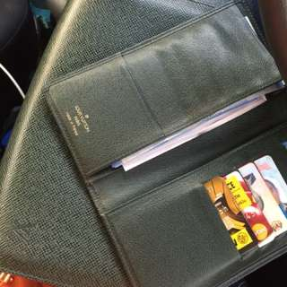 Original LV Taiga Clutch & Long Wallet Combo SALE