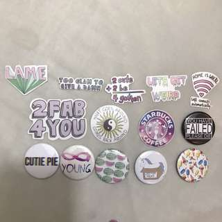 Tumblr Stickers and badges