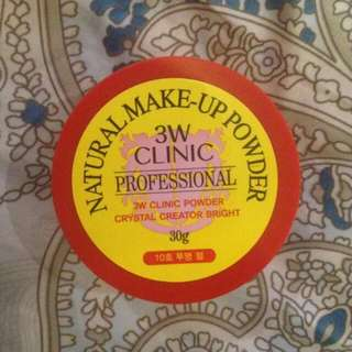3W CLINIC NATURAL MAKE UP POWDER