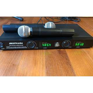 Bestkara UHF 933 dual wireless mic