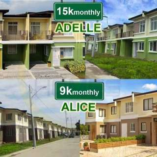 adelle and alice townhouse preselling and limited RFO units