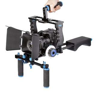 Morros DSLR Rig Movie Kit Shoulder Mount Rig with Follow Focus and Matte Box
