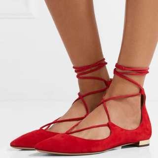 Brand New Aquazzura Lace Up Flats 37.5 $5000