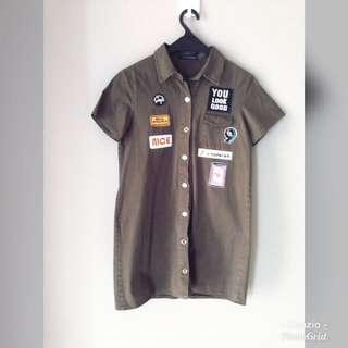 Baju terusan army patch