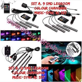 Sound-Synchronized Vehicle Legroom Ambient LED Strip Lighting Van Music Sync Activated Decorative Atmosphere RGB Strip Light Waterproof Flexible LED Car Minivan MPV Escooter