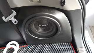 Gladen SQX 8 inch with Customised housing for Toyota Wish