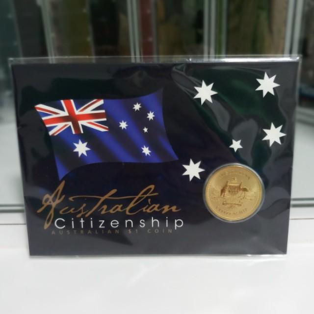 2017 Australian Citizenship $1 Uncirculated Coin