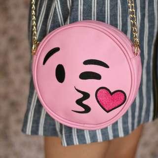 Pink round bag