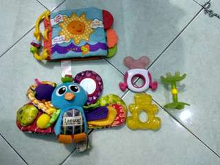 Teether, gantungan stroller,  soft book