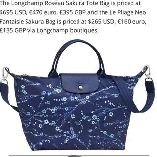 LONGCHAMP SAKURA BLUE BAG