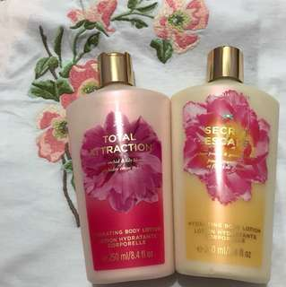 Victoria's Secret Hydrating Body Lotions x2