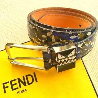 *100% 正品+全新FENDI MONSTER BELT (MEN'S) Size 34 (85cm長)