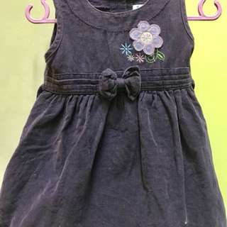Baby gowns purple corduroy