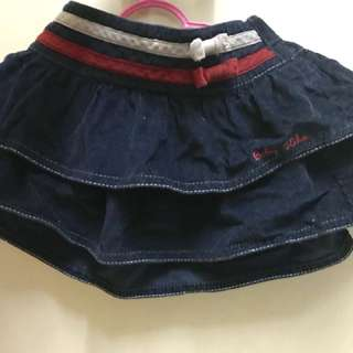 Corduroy skirt for baby (blueblack)