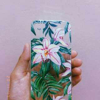 iphone 5s Clear Floral Case