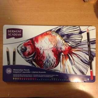 New Derwent Academy Watercolour Pencils 36 Pack