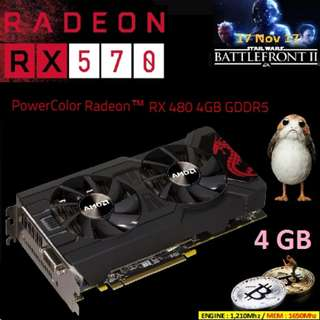 POWERCOLOR RX 470 4GB GDDR5 MINING EDITION (WHITE BOX)