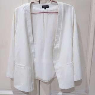 ZALORA white blazer