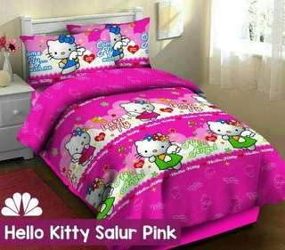 Hello kitty salur pink katun cvc