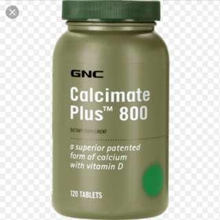 GNC 蘋果酸鈣+D+ 鎂+鉀 GNC Calcimate Plus 800   120粒