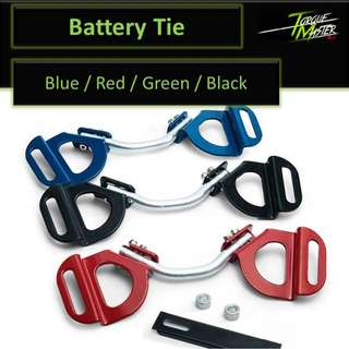 Adjustable Battery tie down bar .Free Installation! Red . Blue . Black . Green .