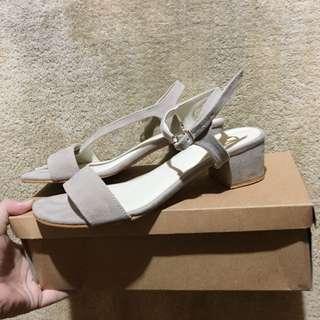 Stone gray sandals
