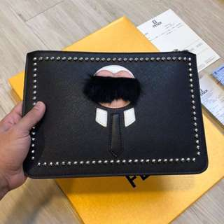 clutch bag fendi premium full leather